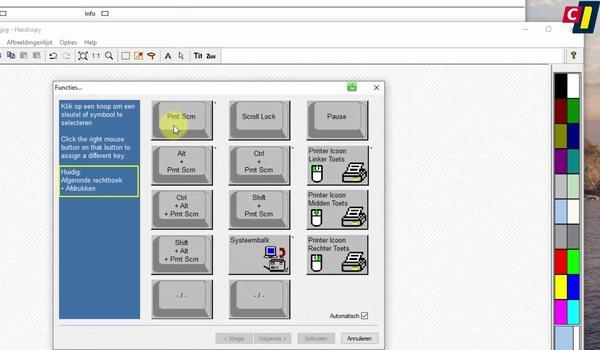 Hardcopy: printen met PrintScreen