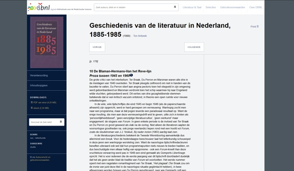 DBNL - Een grote collectie Nederlandstalige boeken en tijdschriften