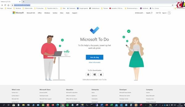 Microsoft To Do: taken toevoegen aan een lijst
