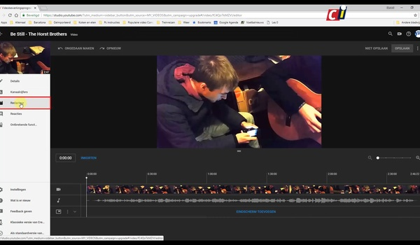 YouTube Studio Editor: video bewerken