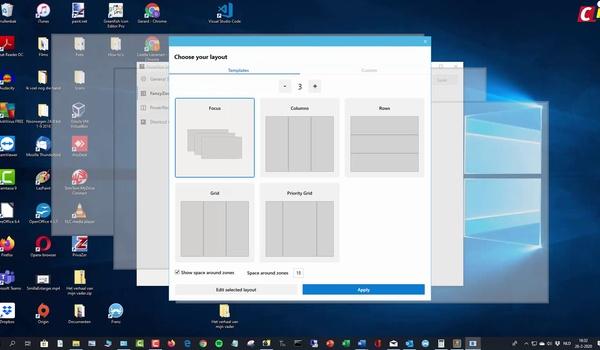 Windows 10: FancyZones