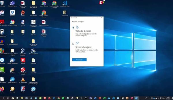 Quick Assist: verbinding met externe pc maken