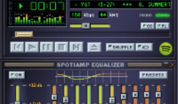 Spotify in Winamp-jasje op sterfdag retromuziekspeler