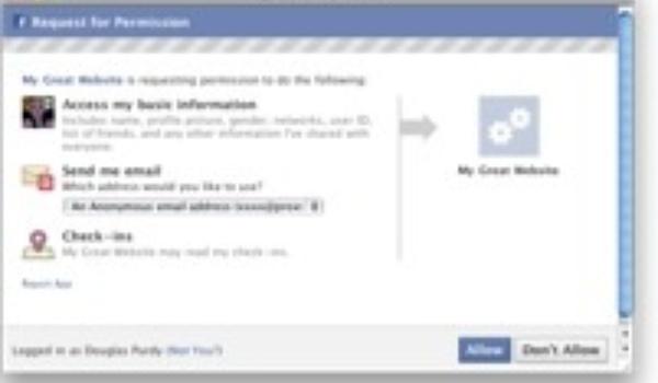 Facebook maakt anoniem inloggen op websites mogelijk