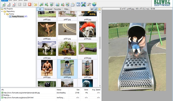 Neo downloader Lite - Download plaatjes met honderden tegelijk