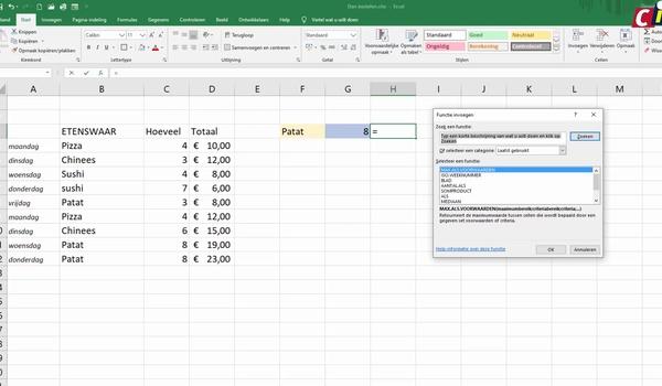 Excel: de functies max.als en min.als