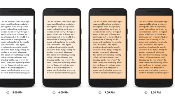 Lekker wegdommelen met Night Light-modus voor Play Books