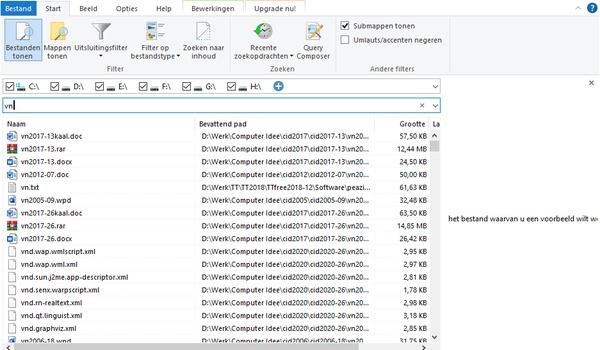 UltraSearch - Razendsnel zoeken binnen Windows