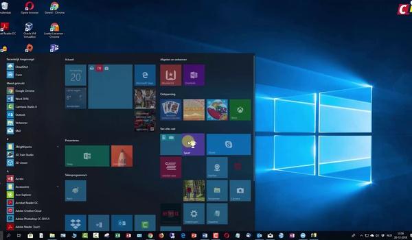Windows 10: tegelmappen in Start