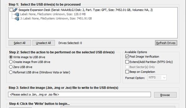 ImageUSB - Schrijf naar meerdere usb-sticks tegelijk