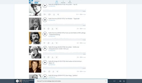 Mixcloud - Complete radio-uitzendingen uit het verleden