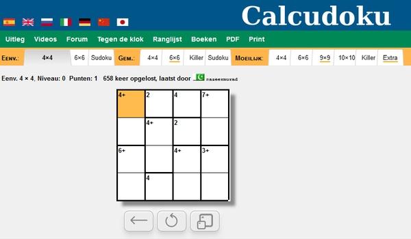 Calcdoku - Een soort sudoku maar dan voor gevorderden