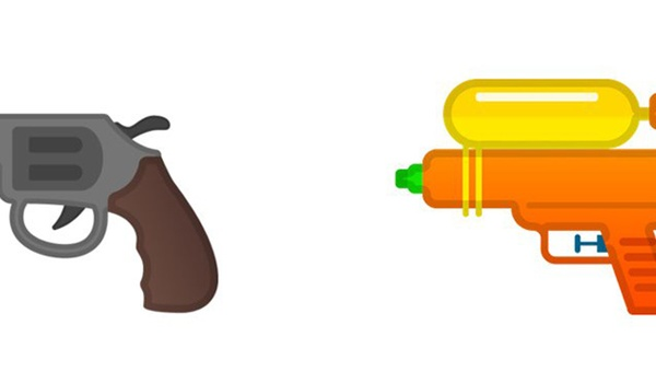 Google en Microsoft omarmen waterpistool-emoji