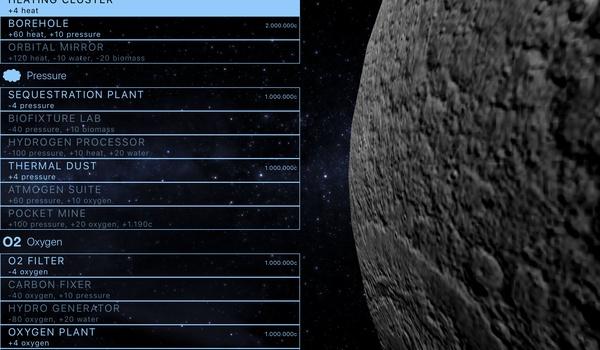 TerraGenesis - Vestig je kolonie op de maan, op mars of...