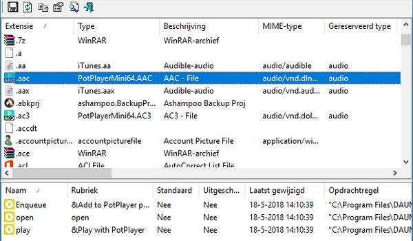 FileTypesMan - Welke bestands-extensies kent uw systeem en wat gebeurt ermee?
