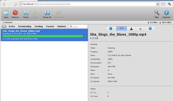Transmission - Downloaden via torrents