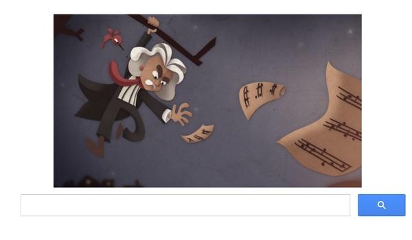 Beethoven herdacht door Google