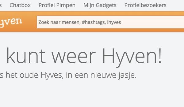 Hyves is terug, nu alleen met de naam Hyven.nl