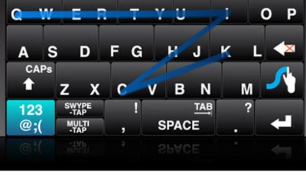 Met Swype snelle tekstinvoer op touchscherm