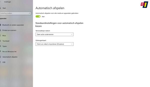 Windows 10: Automatisch afspelen