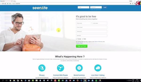 Sociaal netwerk: Seen.life (1)