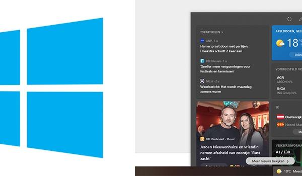 Windows 10 weerbericht verwijderen uit taakbalk