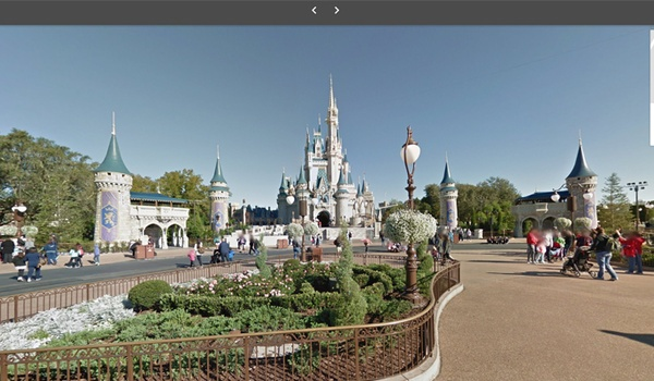 Disneyland nu ook in Street View te bekijken