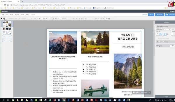 Lucidpress: brochure ontwerpen