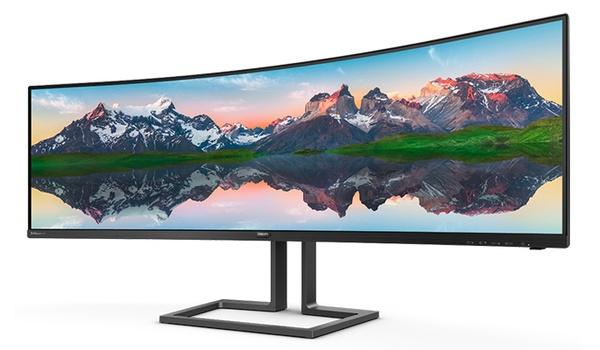 Philips 498P9Z-monitor even breed als twee beeldschermen