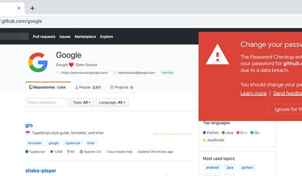 Google-extensie houdt bij of je wachtwoorden gekaapt zijn