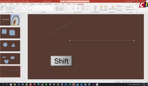PowerPoint: perfecte vormen invoegen