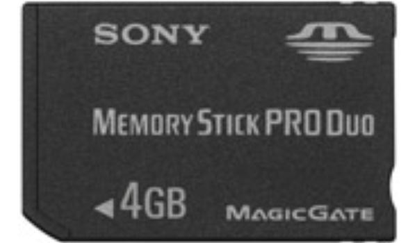4 Gieg op een geheugenkaartje