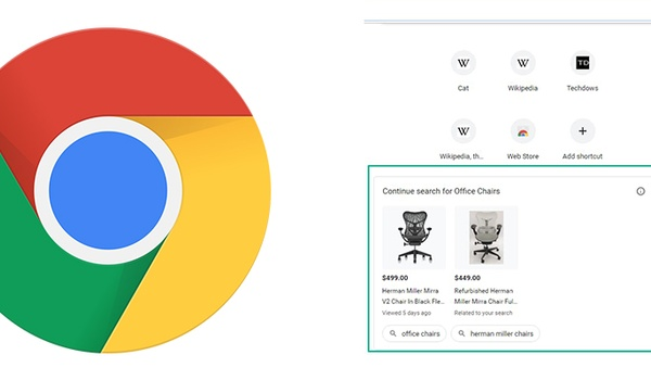 Google test reclame in nieuwe tabbladen Chrome