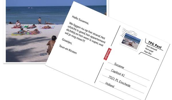 Vakantiefoto maken en via mobiel als kaart versturen