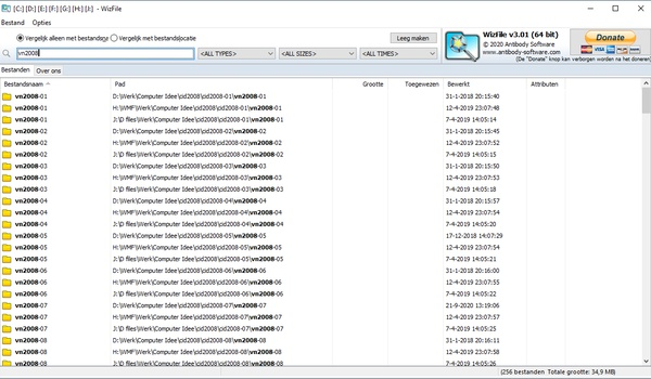 WizFile - Doorzoekt alle schijven