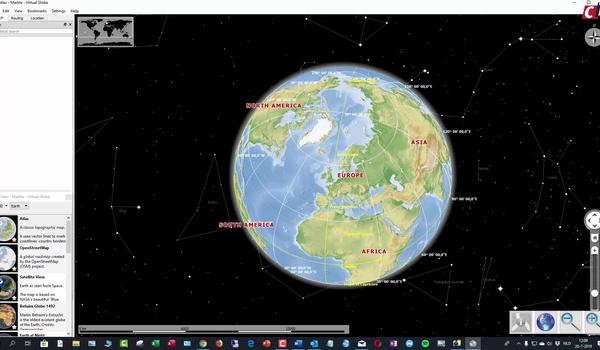 Een blik op de aarde werpen met Marble