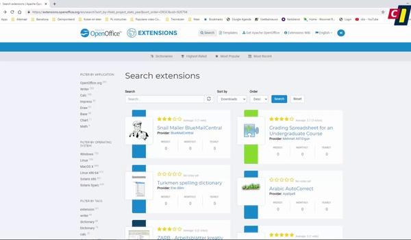 OpenOffice: extensies gebruiken