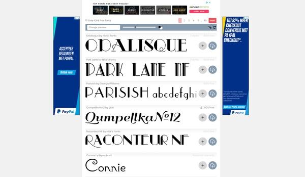 FontSpace - Een stortvloed aan ruim 60.000 lettertypen
