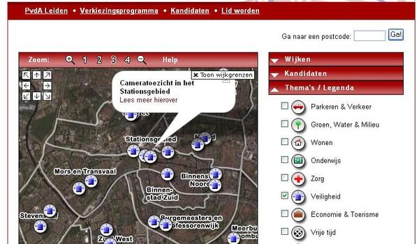 Google Maps + PVDA Leiden =...