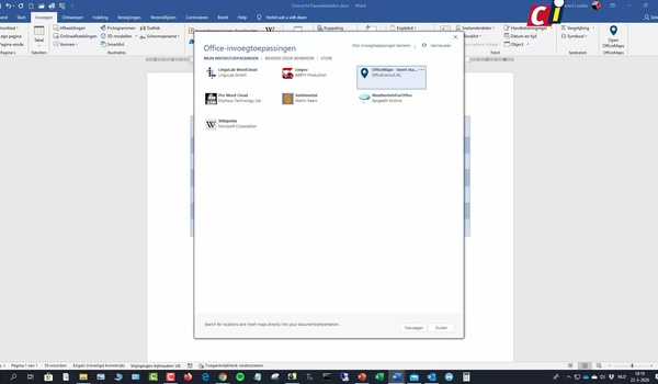 Invoegtoepassing OfficeMaps