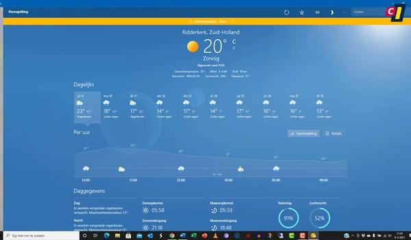 Windows 10: Weer