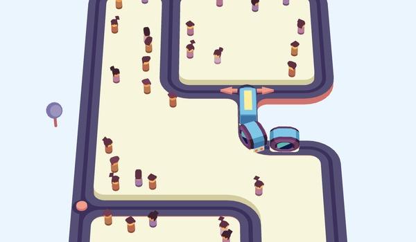 Train Taxi - Rijd je zelf niet klem in deze puzzelgame