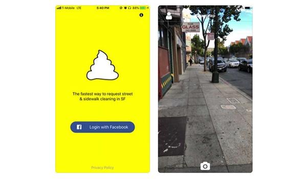 Snapcrap-app houdt de straten schoon