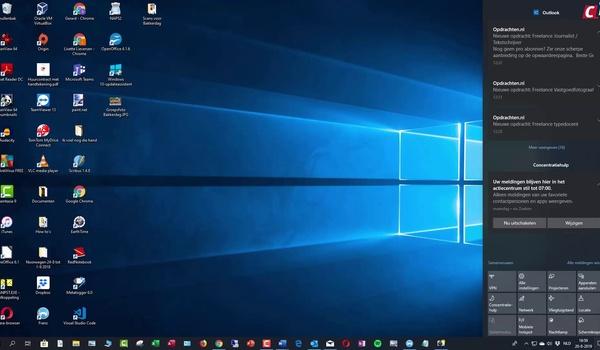 Windows 10: Actiecentrum