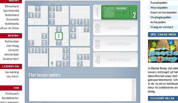 Eerste WK Sudoku op AD.nl