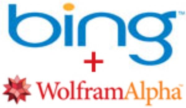 Bing brengt Wolfram Alpha resultaten