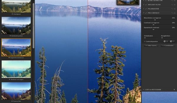 Google Nik -  Laat uw foto's van het scherm spatten