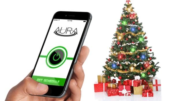 Draadloze lampjes voor in de kerstboom met Aura