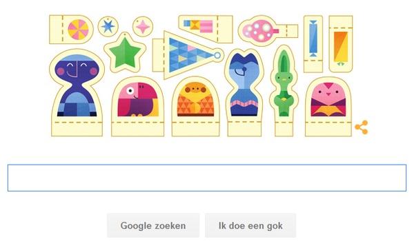 Feestdagen 2015 in de vorm van een Google doodle