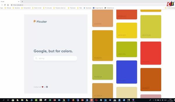 Kleuren zoeken met Picular